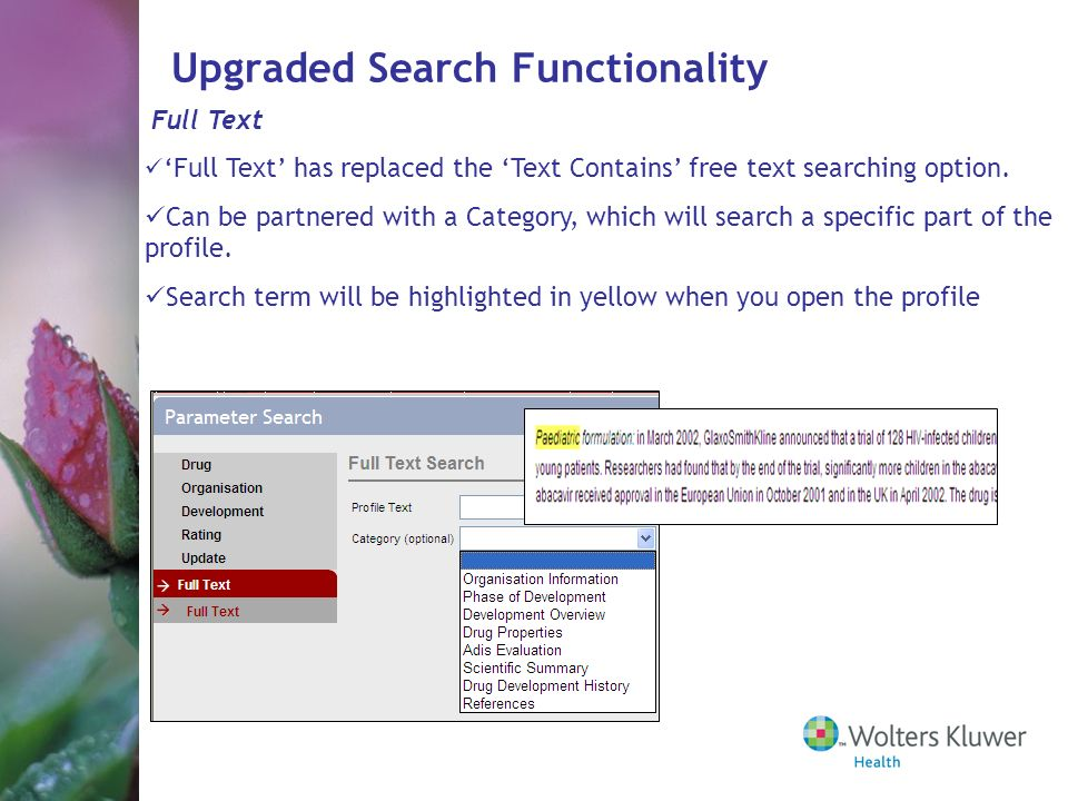 Upgraded Search Functionality