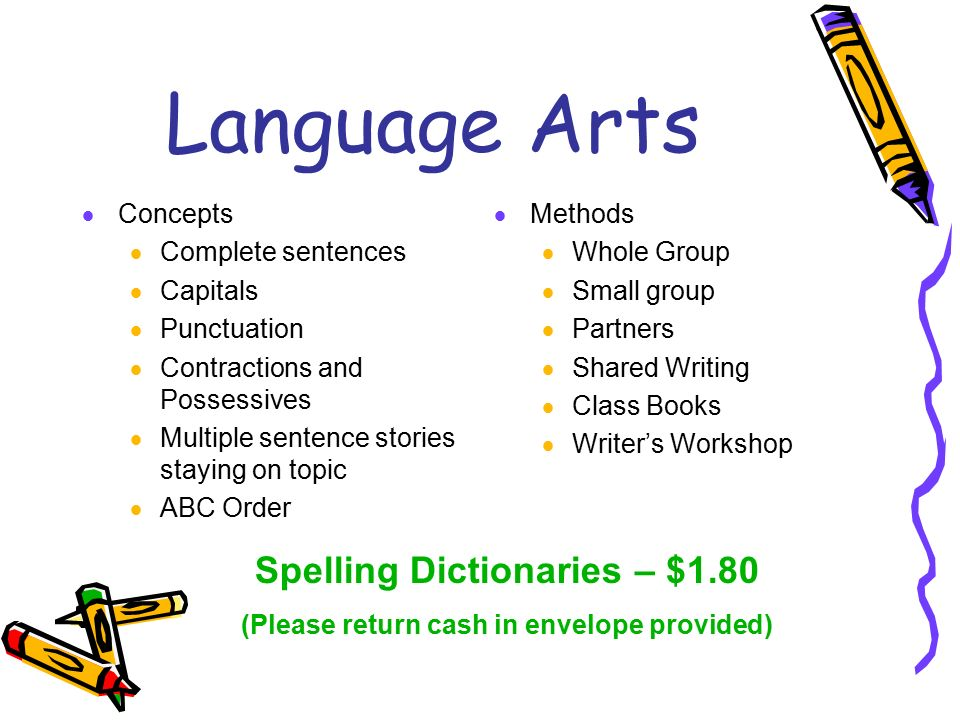Language Arts Spelling Dictionaries – $1.80 Concepts