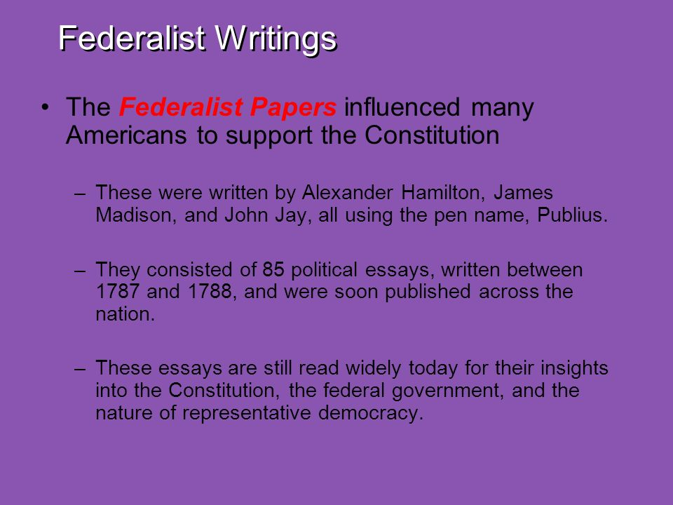 the federalist papers the constitution and separation of powers The federalist-antifederalist debates surrounding the ratification of the constitution took place over a period of about a year, and across the states.