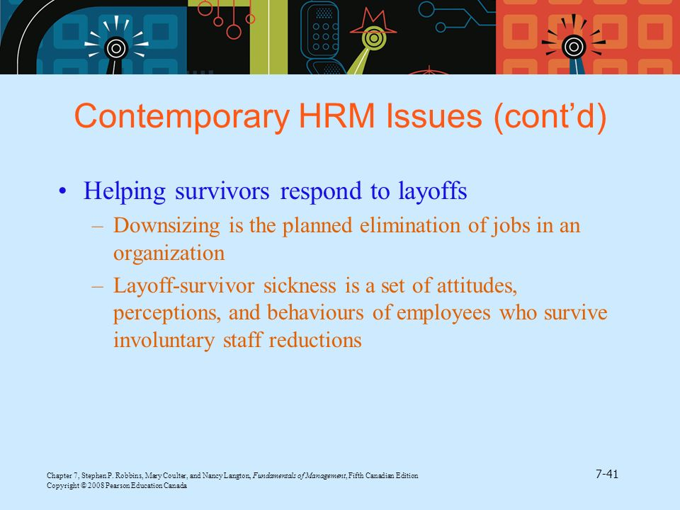 contemporary issues on human resources The term human resources as referred to in this section implicates employees as assets (liu, combs, ketchen & ireland, 2007, p 504) as opposed to the term personnel that views employees as a 'cost.