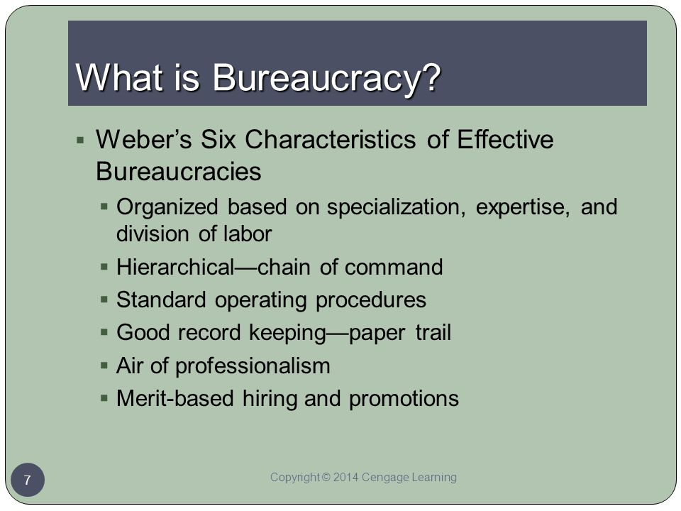 Chapter 8 the federal bureaucracy ppt download for 6 characteristics of bureaucracy
