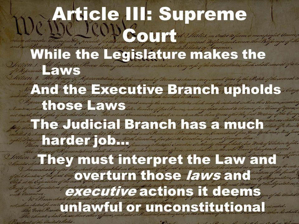 Article III: Supreme Court