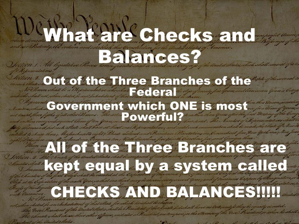 What are Checks and Balances