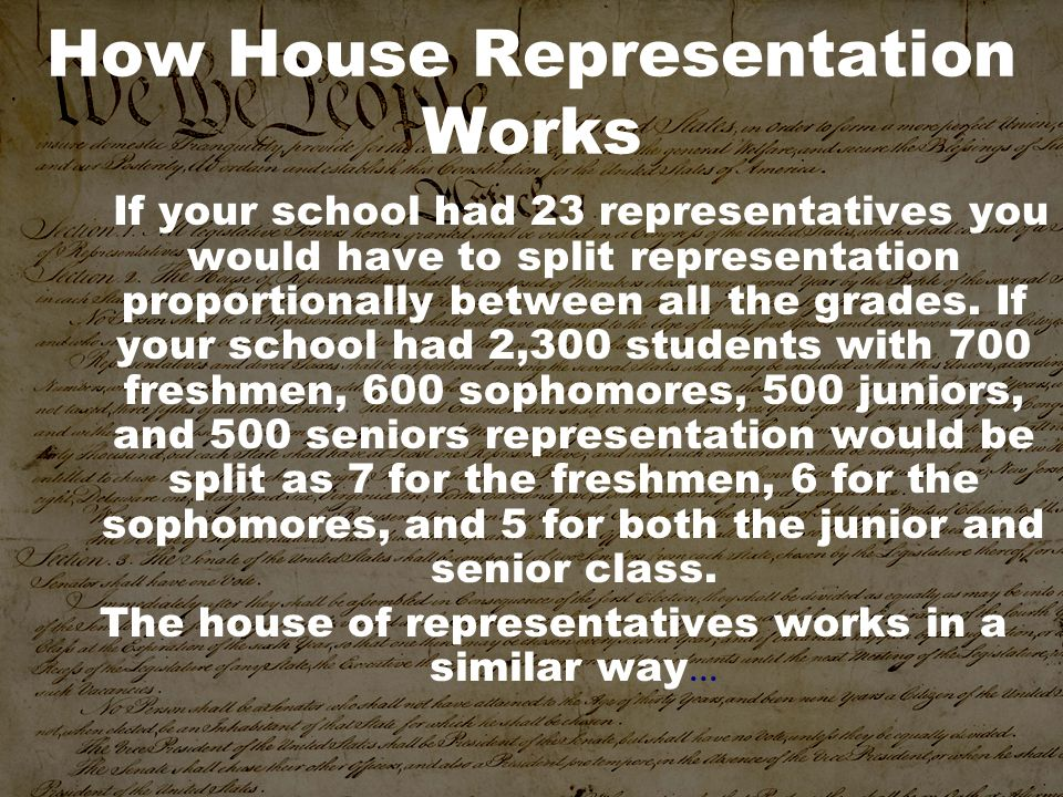 How House Representation Works
