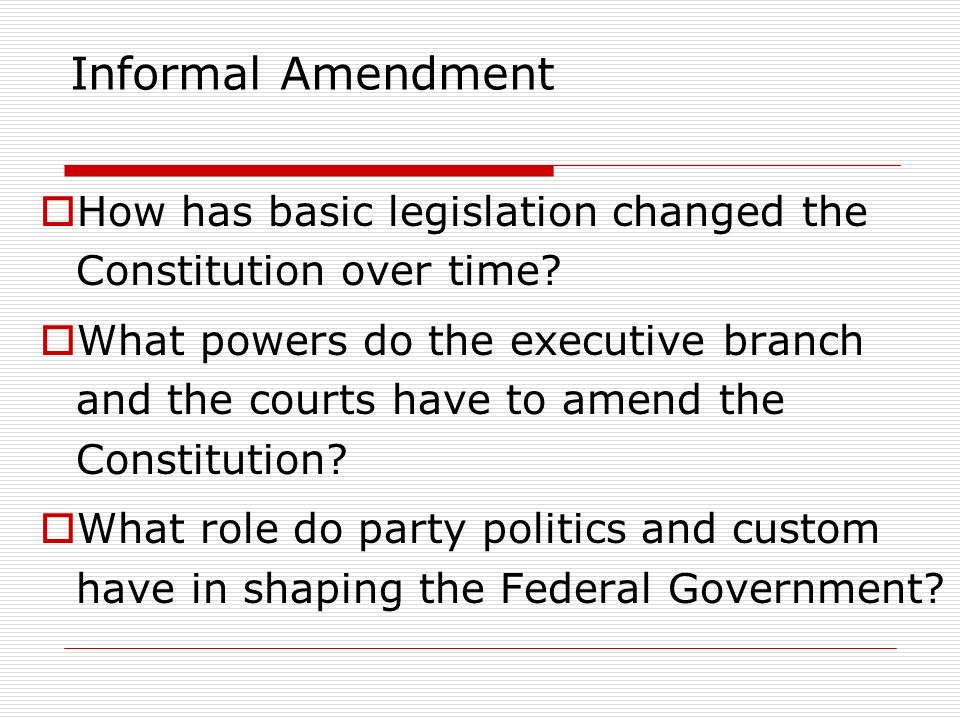 formal and informal powers of congress What powers are assumed deeper implied powers: a political power not expressly named in a constitution but that is inferred because it is necessary to the performance of an enumerated power.