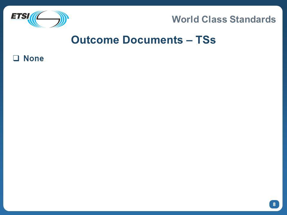 Outcome Documents – TSs