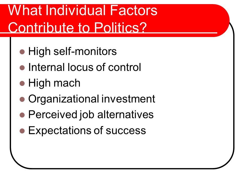 What Individual Factors Contribute to Politics