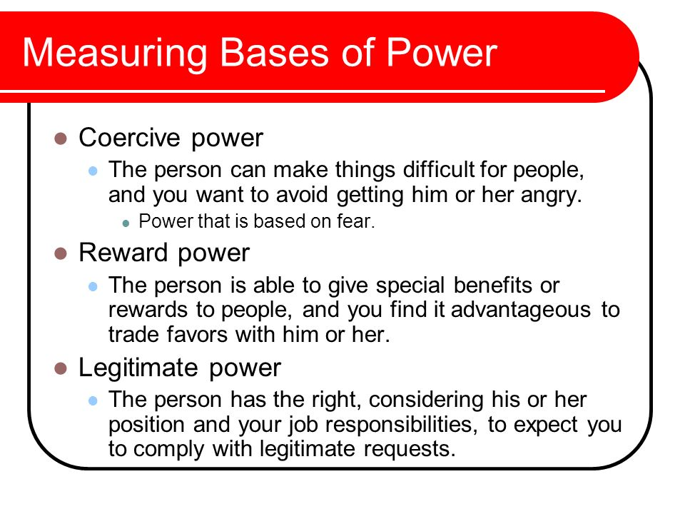 Measuring Bases of Power