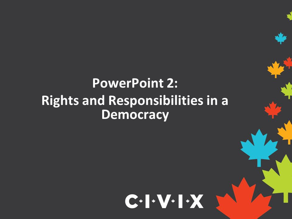 PowerPoint 2: Rights and Responsibilities in a Democracy