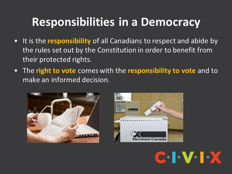 Responsibilities in a Democracy
