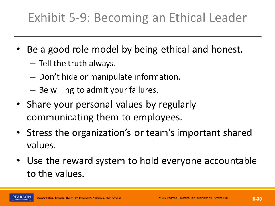 Exhibit 5-9: Becoming an Ethical Leader