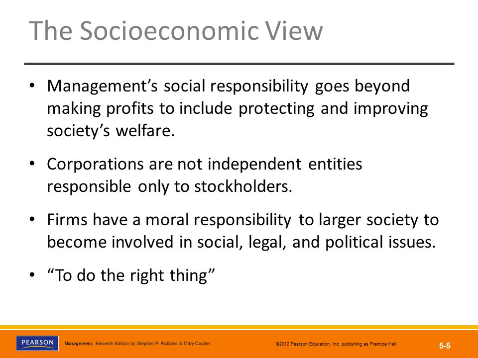 The Socioeconomic View