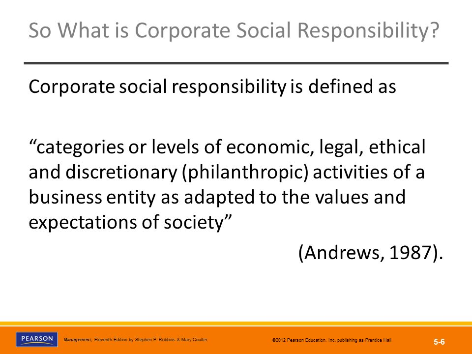 So What is Corporate Social Responsibility