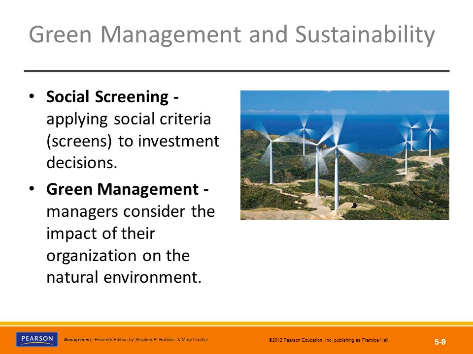 Green Management and Sustainability