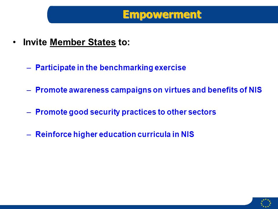 Empowerment Invite Member States to: