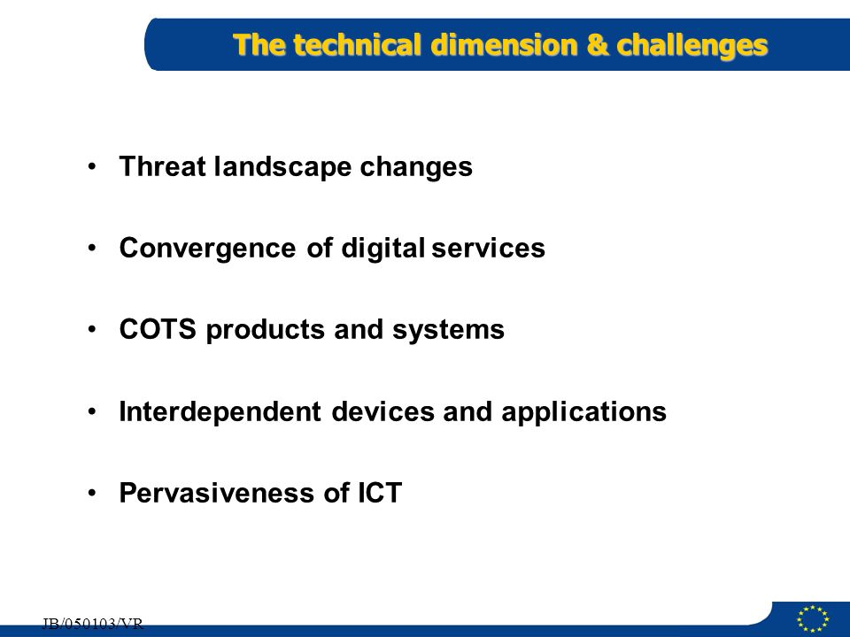 The technical dimension & challenges