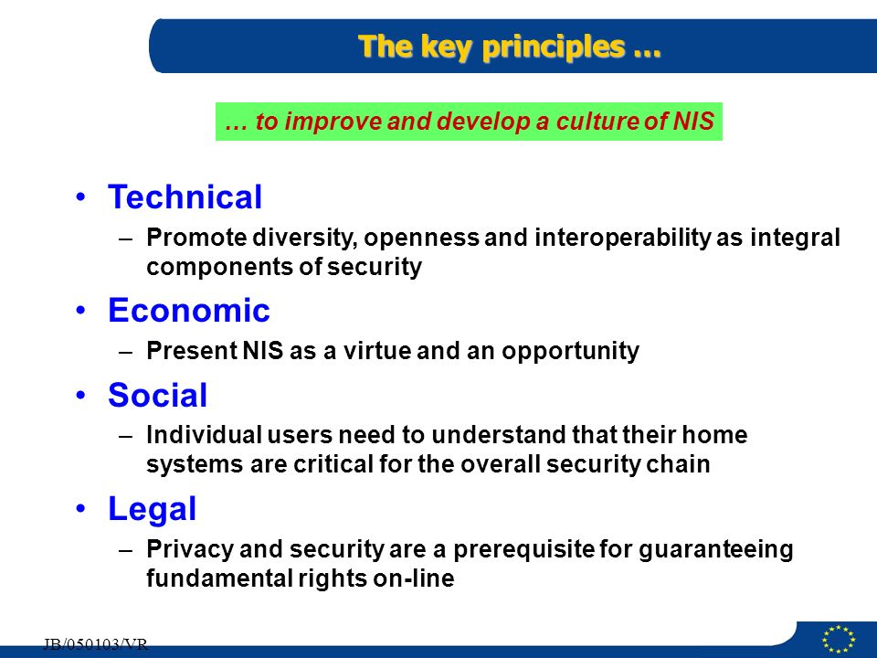 … to improve and develop a culture of NIS
