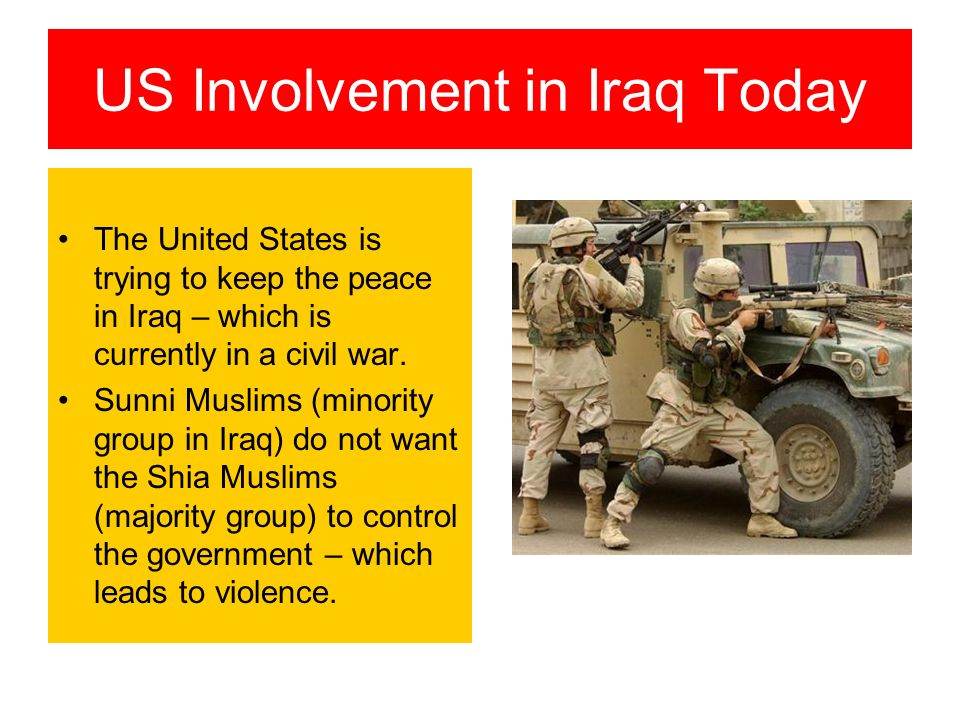 an examination of the united states involvement in the conflict in iraq An examination of the united states' involvement in the kosovo conflict pages 2 words  kosovo liberation army, american involvement in kosovo, kosovo conflict.