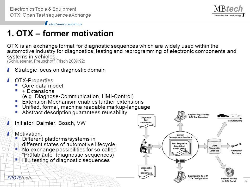 1. OTX – former motivation