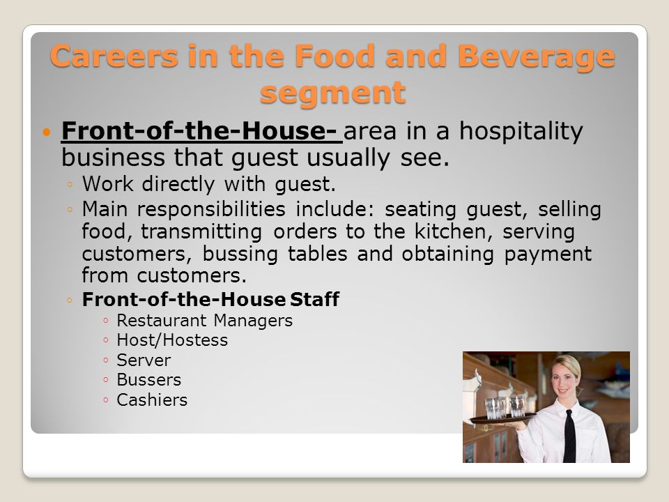 Careers in the Food and Beverage segment