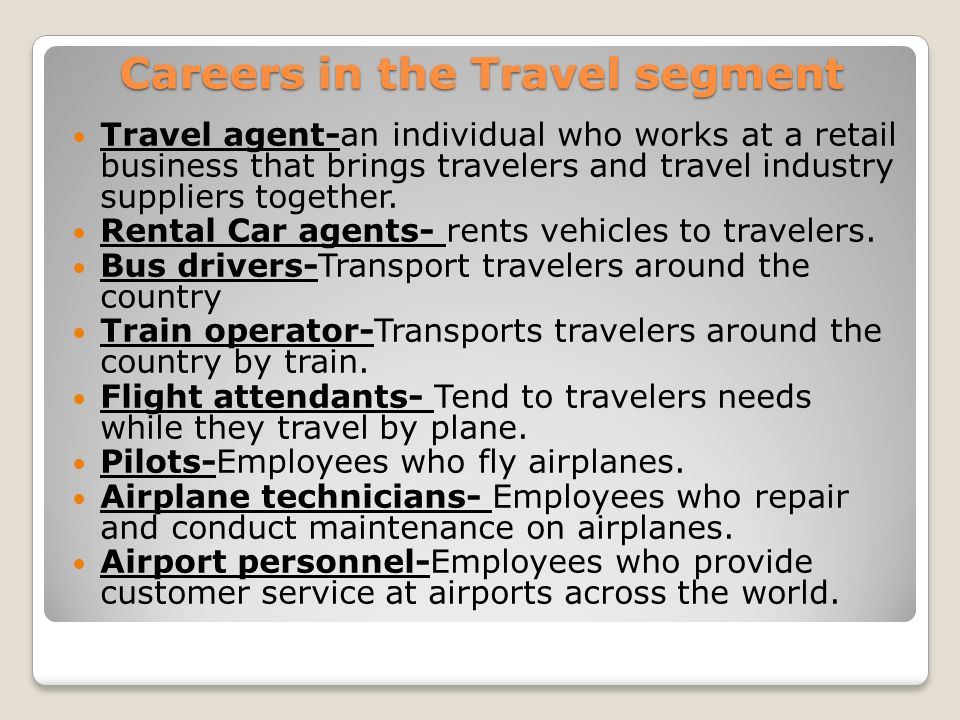 Careers in the Travel segment