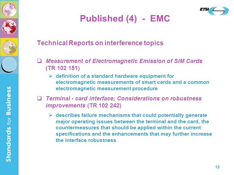 Published (4) - EMC Technical Reports on interference topics
