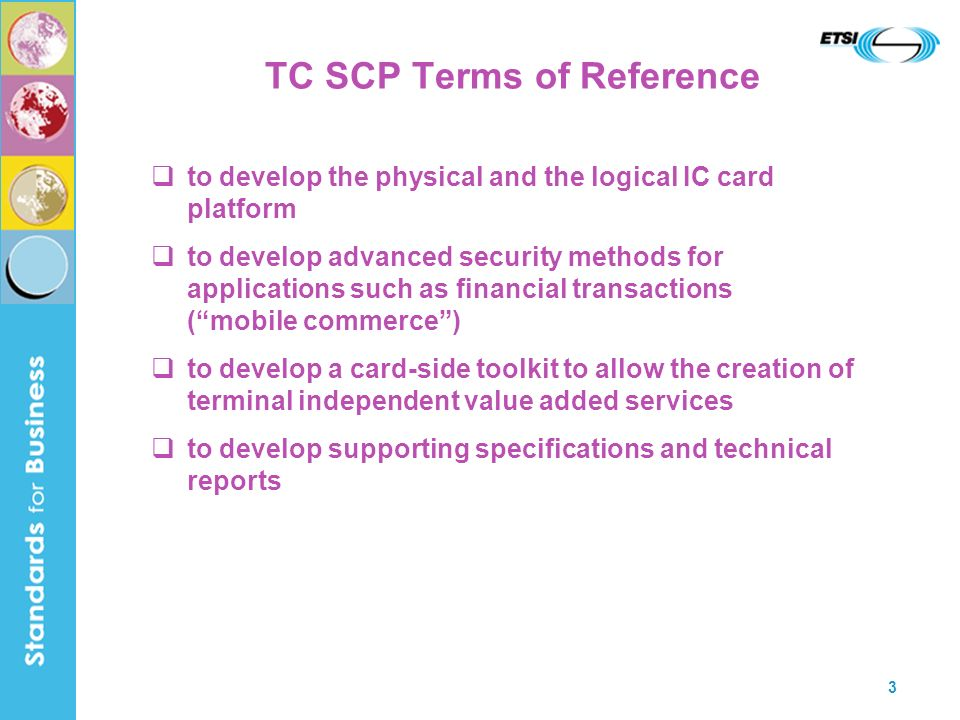TC SCP Terms of Reference