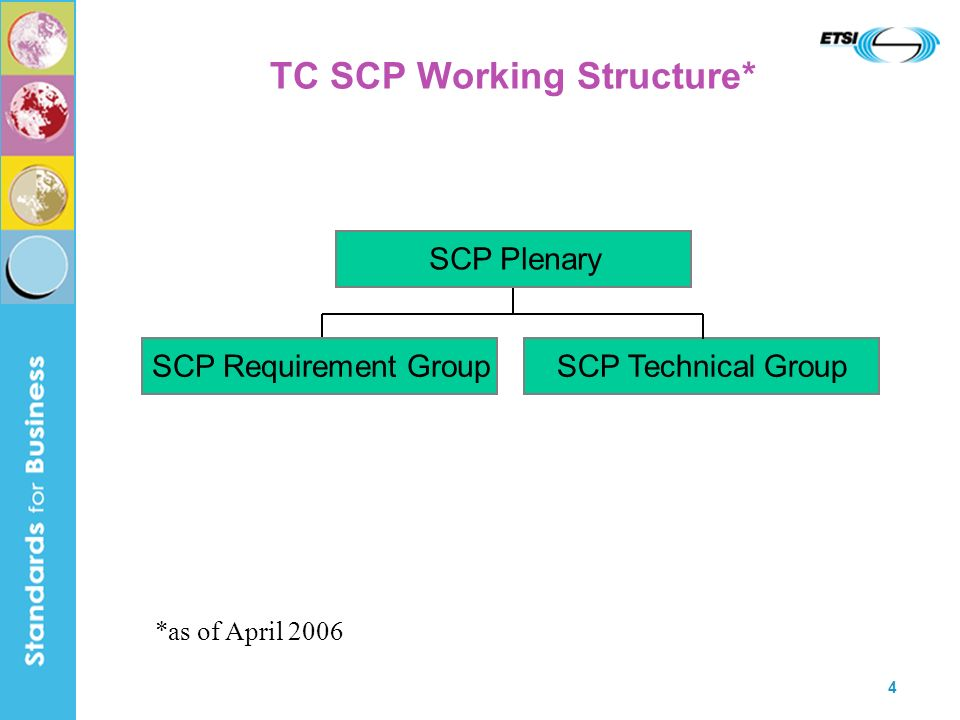 TC SCP Working Structure*