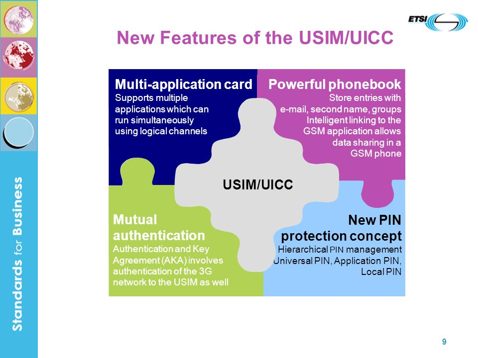 New Features of the USIM/UICC