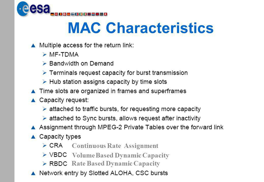 MAC Characteristics Continuous Rate Assignment