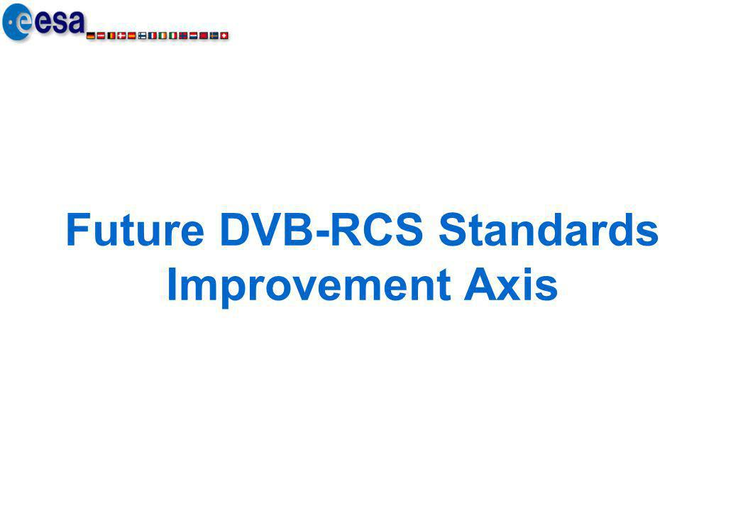 Future DVB-RCS Standards Improvement Axis