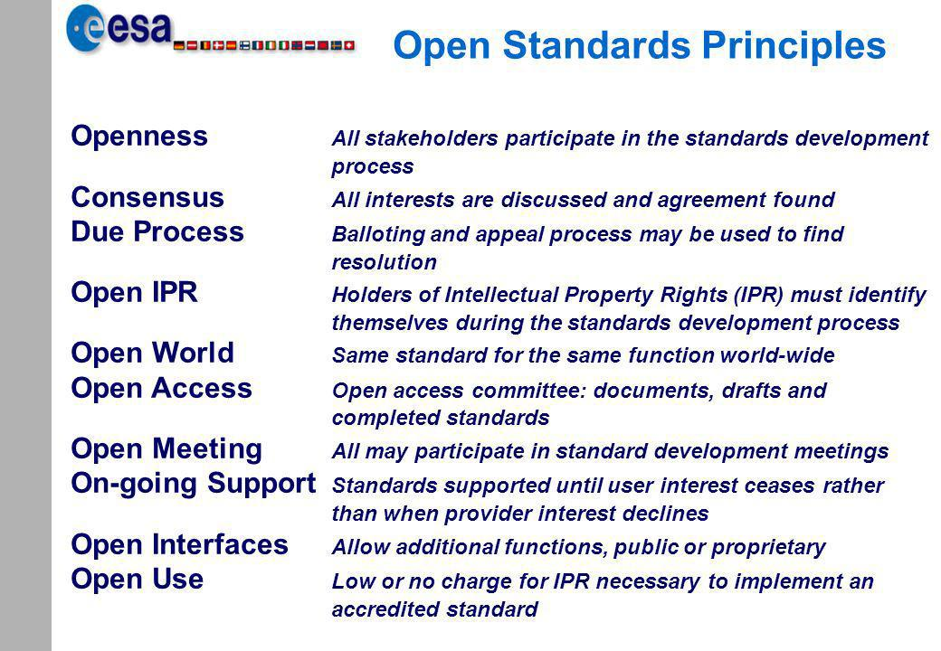 Open Standards Principles