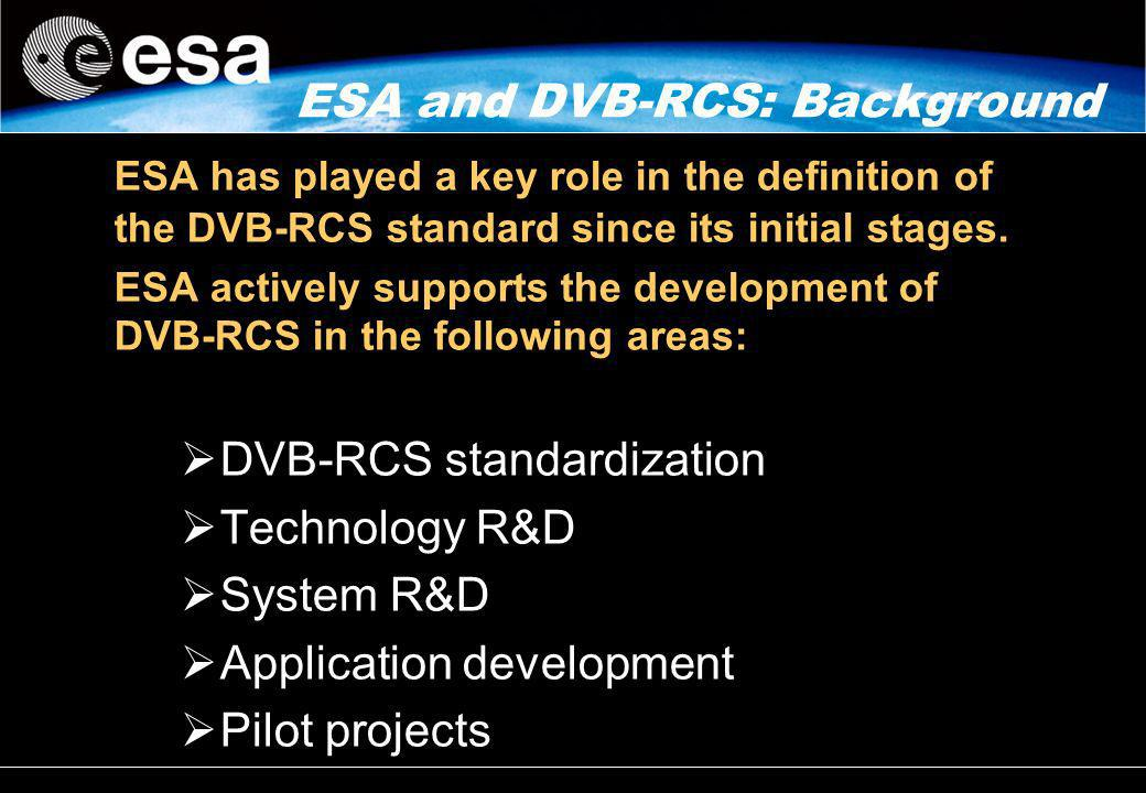 ESA and DVB-RCS: Background