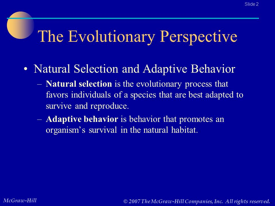 evolutionary perspective natural selection and adaptive The biological evolution of pain   is the result of natural selection pain can be an adaptive trait and improve the survival value  hierarchical perspective .