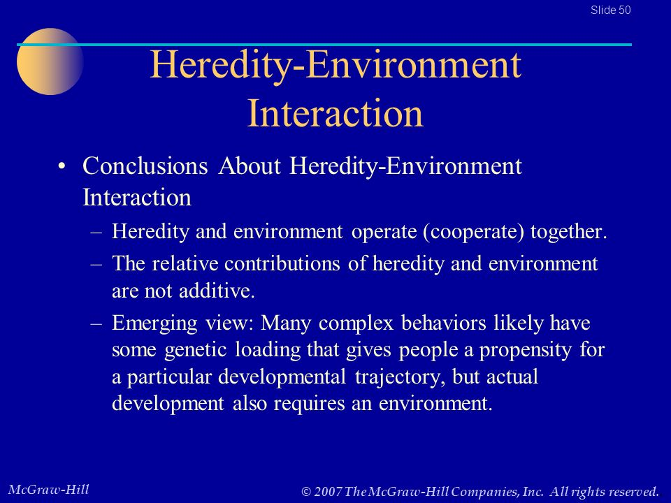explain how heredity and the environment interact to produce individual differences in development How do heredity and environment interact to produce individual differences in development  interaction of heredity and environment source(s): .