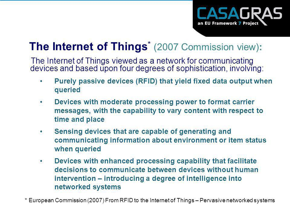 The Internet of Things* (2007 Commission view):