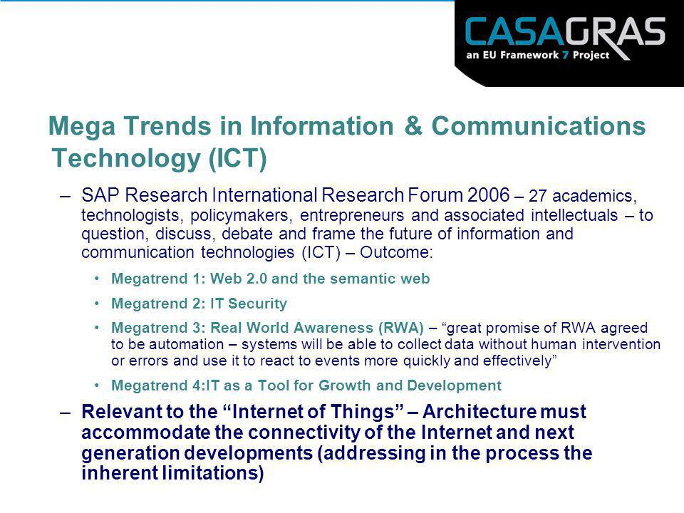 Mega Trends in Information & Communications Technology (ICT)