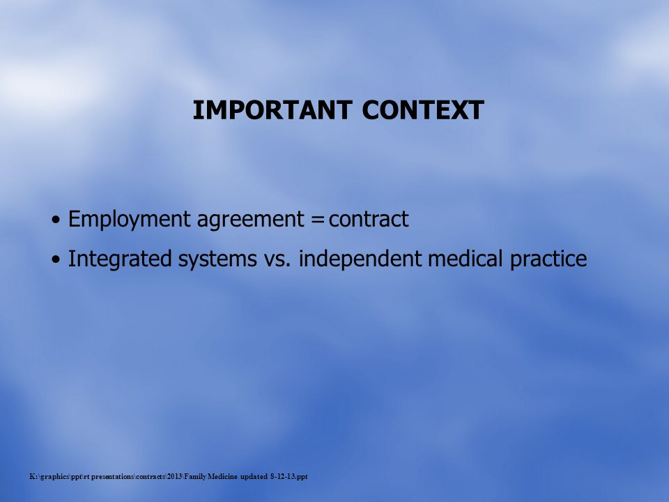 Physician Employment Agreements - Ppt Download