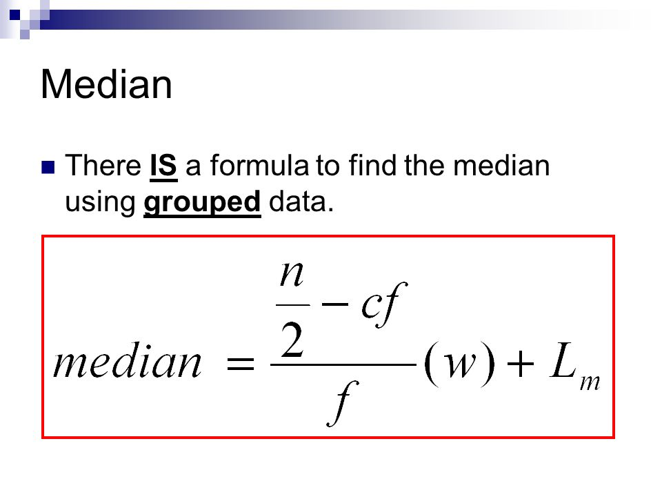 Worksheet Mean Median Mode Formula mean median mode and midrange of grouped data ppt video 4 there is a formula to find the using data