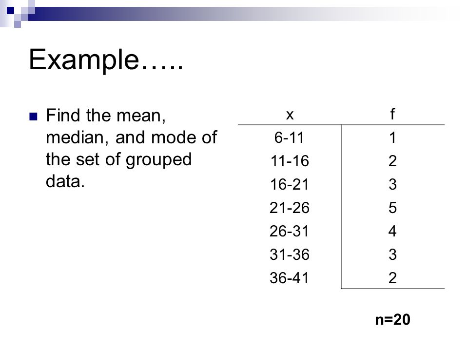 Solved: Grouped-Data Formulas. When data are grouped in a frequ ...