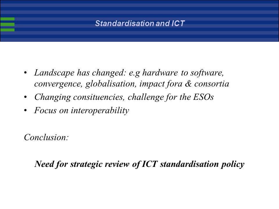 Standardisation and ICT