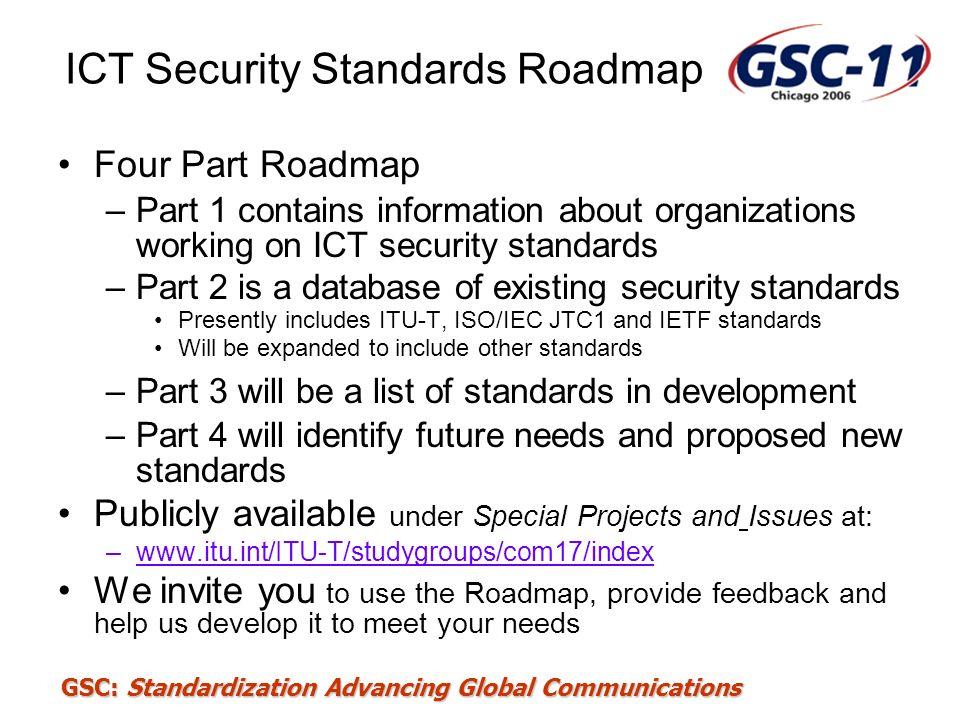 ICT Security Standards Roadmap