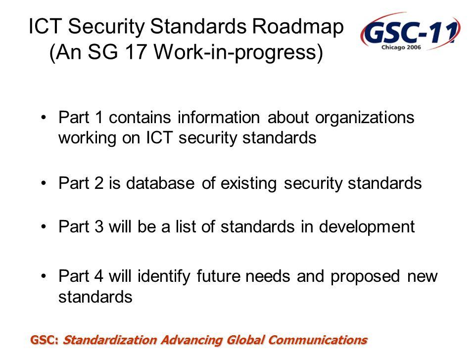 ICT Security Standards Roadmap (An SG 17 Work-in-progress)