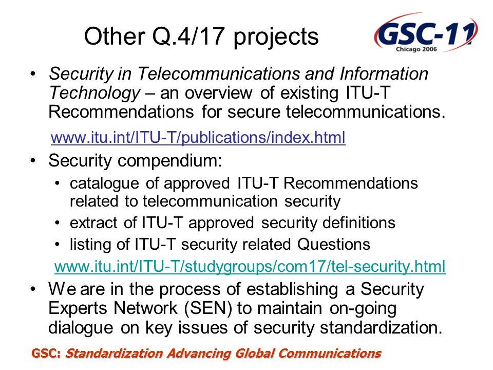 Other Q.4/17 projects www.itu.int/ITU-T/publications/index.html
