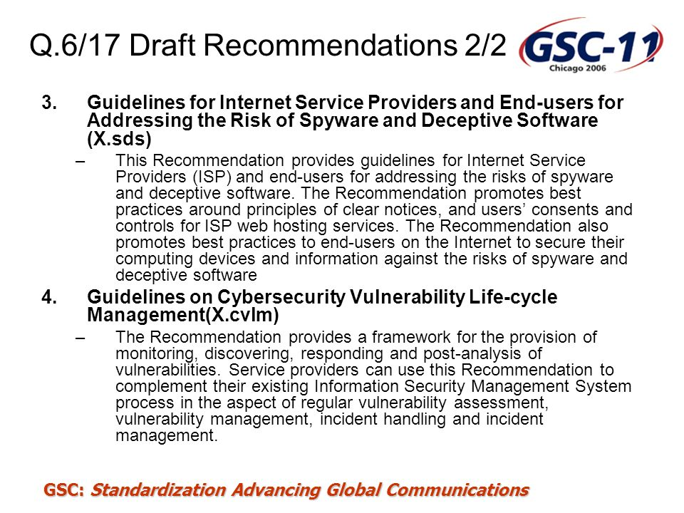 Q.6/17 Draft Recommendations 2/2