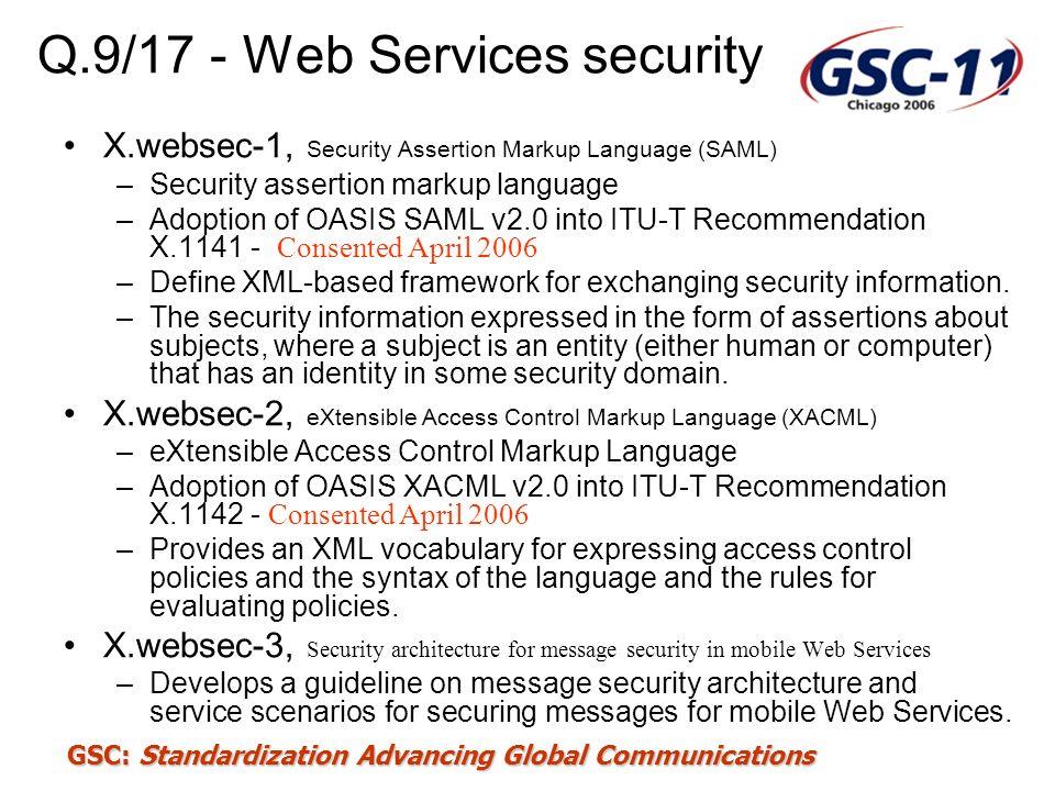 Q.9/17 - Web Services security