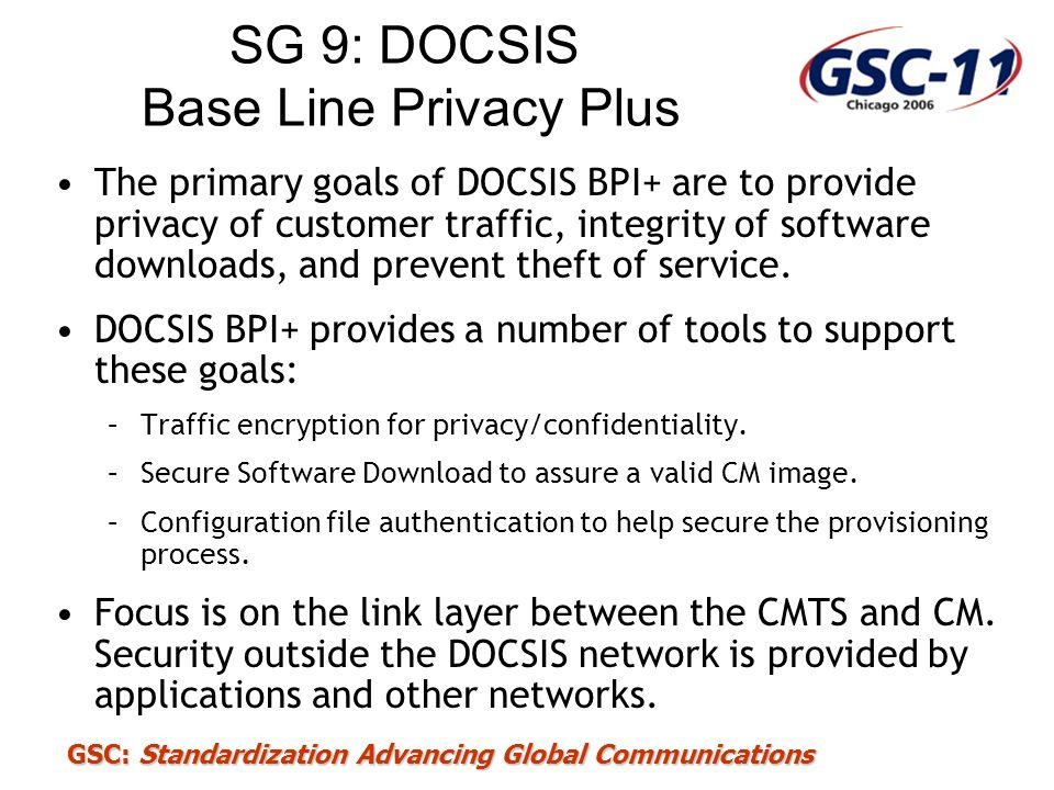 SG 9: DOCSIS Base Line Privacy Plus