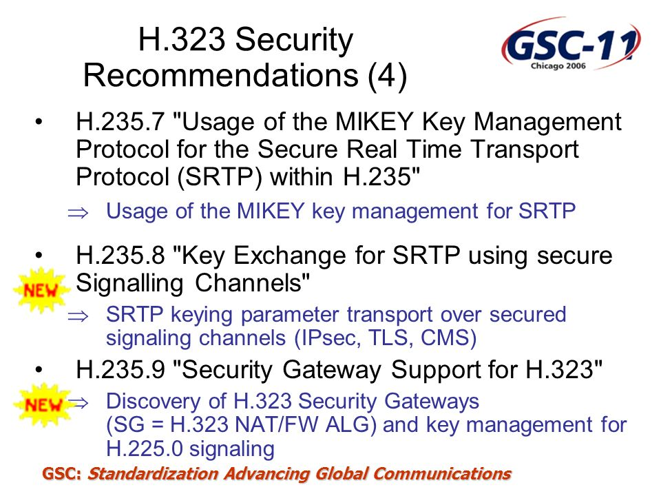 H.323 Security Recommendations (4)