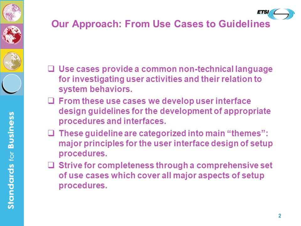 Our Approach: From Use Cases to Guidelines