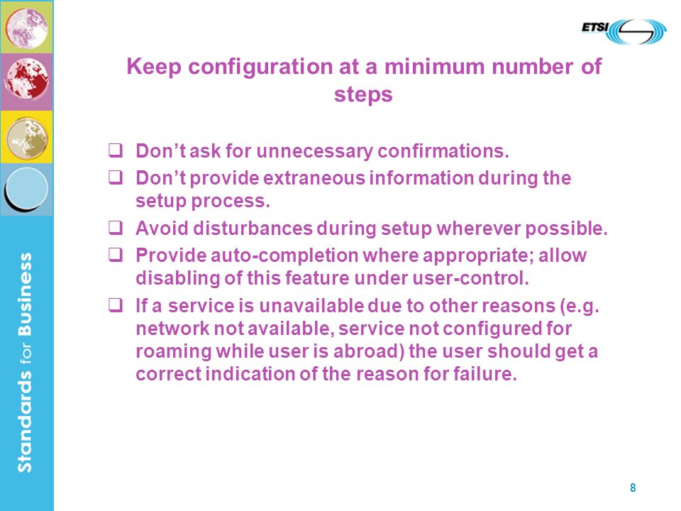Keep configuration at a minimum number of steps